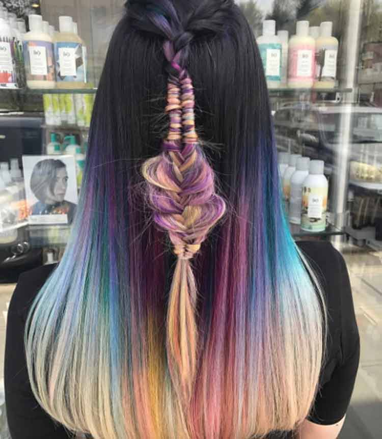 model warna rambut ombre