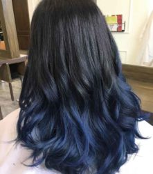 Warna Rambut Blue Black