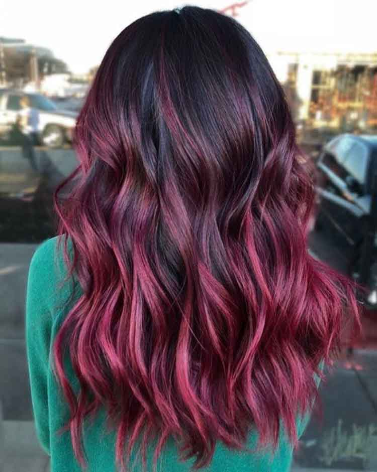 review warna rambut burgundy