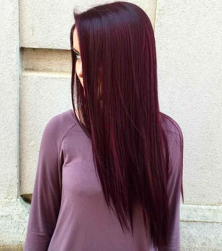 warna rambut rose purple