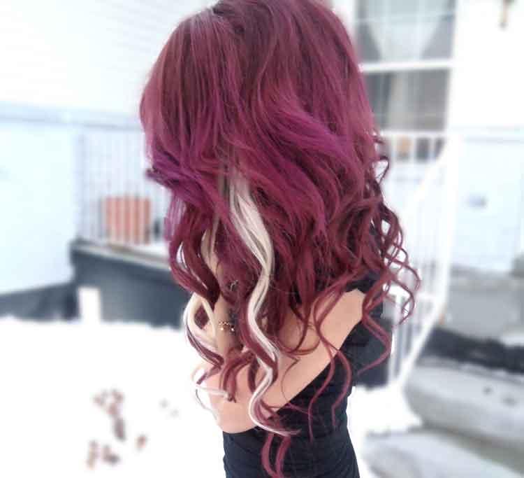 warna semir rambut nyu burgundy
