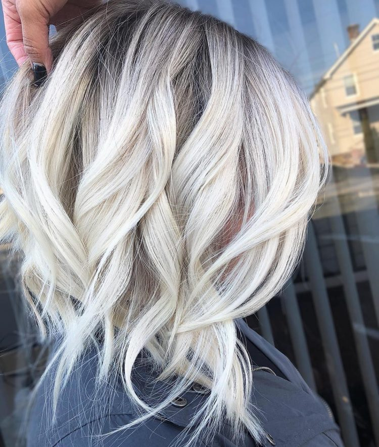 Black to Bleach Blonde Ombre