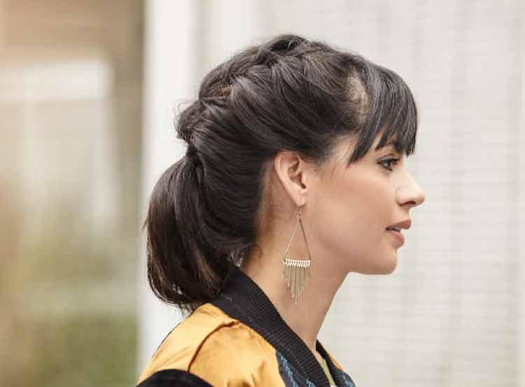 model rambut double pigtails
