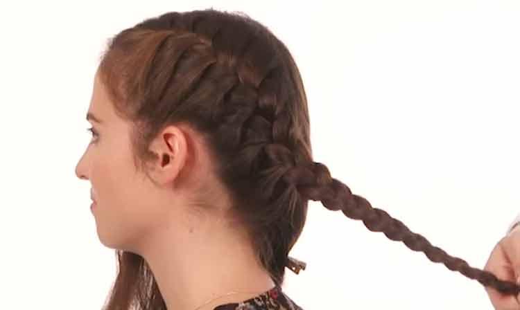 model rambut kepang modern untuk rambut pendek