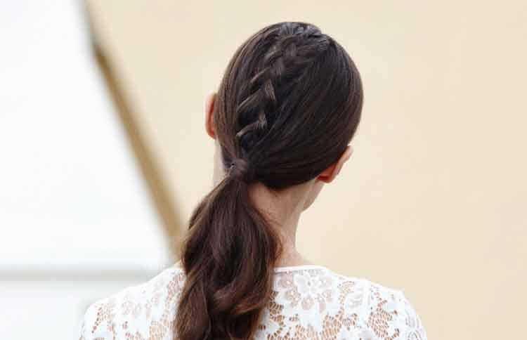 model kepang rambut waterfall