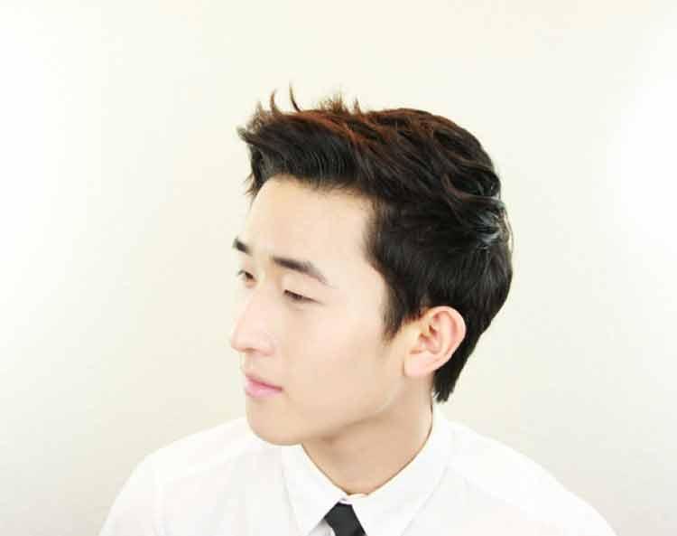 model rambut pendek pria korea 2015