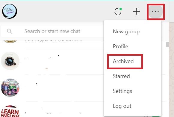 cara membuat status di whatsapp web