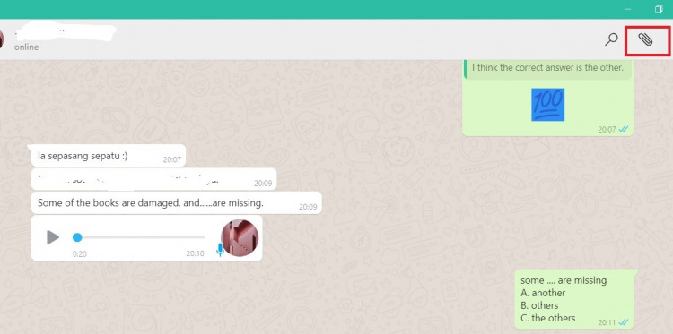 cara video call whatsapp web